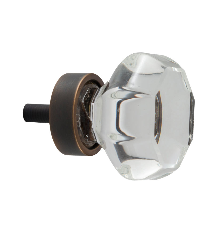 Beeswax Octagonal Cabinet Knobs Small: Octagon Glass Cabinet Knob