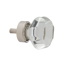 Octagon Glass Cabinet Knob