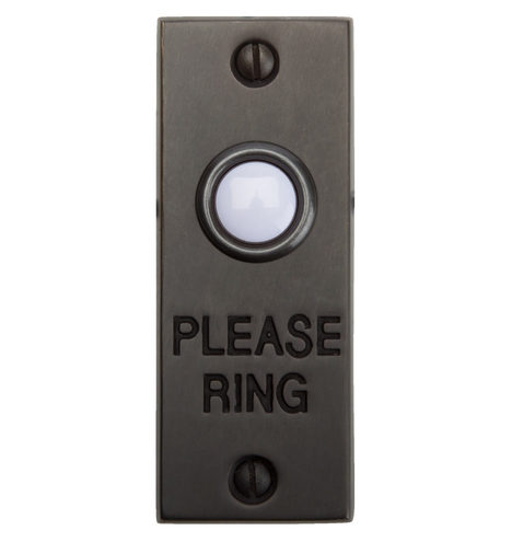 Quot Please Ring Quot Doorbell Button Solid Brass Rejuvenation