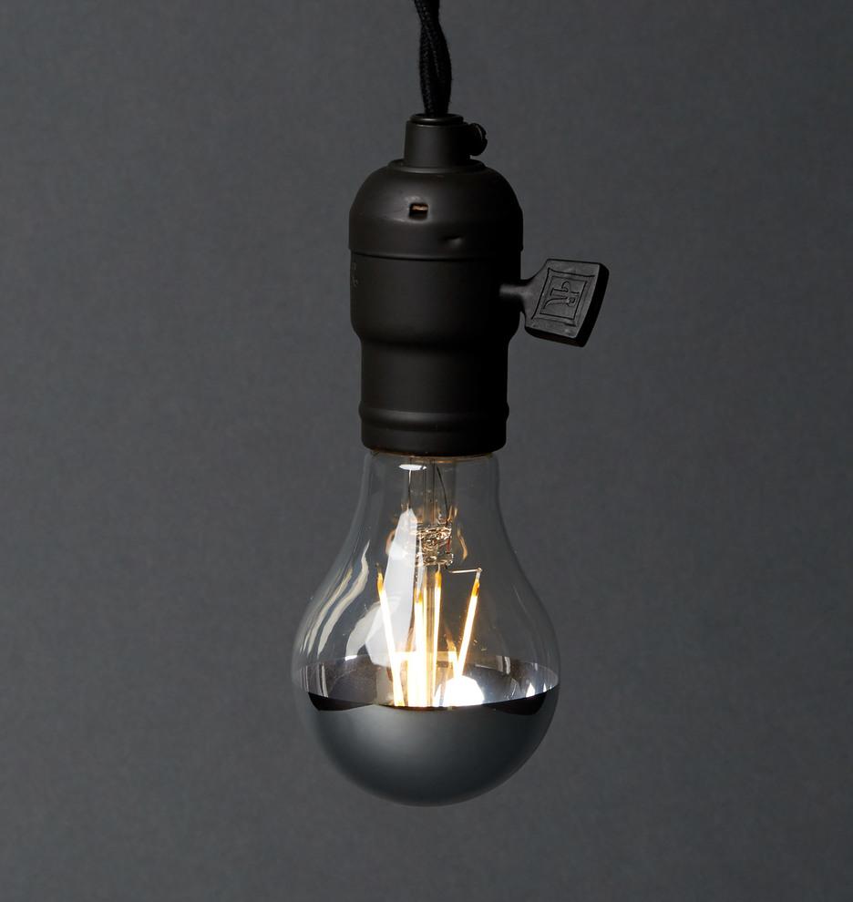 filament led a19 chrome tip bulb - Decorative Light Bulbs