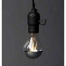 Filament LED A19 Chrome Tip Bulb