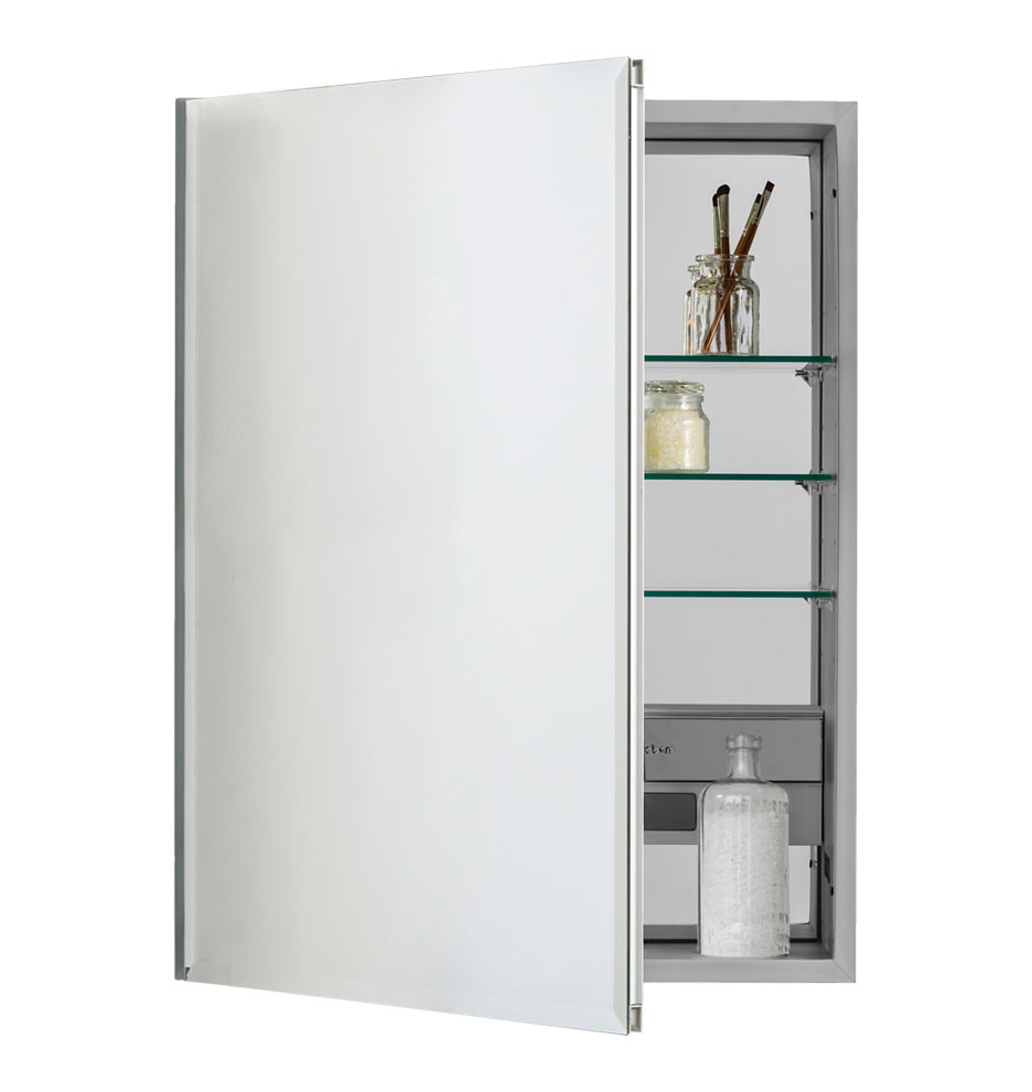 Medicine cabinet with side lighting - Medium Beveled Remodeler S Mirror Medicine Cabinet