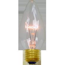 40W Clear Flame Bulb