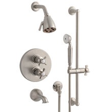 Rollins Thermostatic Tub Shower Set With Handheld