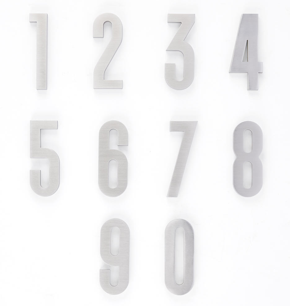 4 classic modern house numbers rejuvenation for Classic house numbers