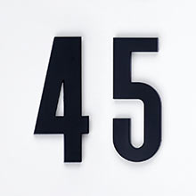 Classic Modern House Numbers 4""