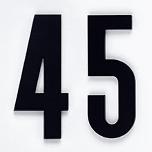 """Classic Modern House Numbers 6"""""""