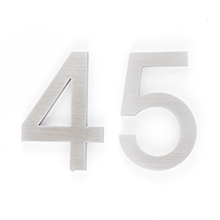 Modern Block House Numbers 4""