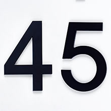Modern Block House Numbers 6""