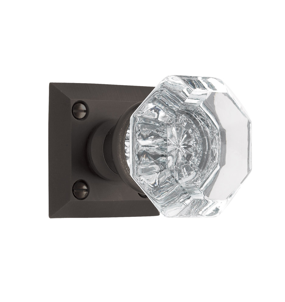 Coleman octagonal crystal knob interior door set for Interior door hardware