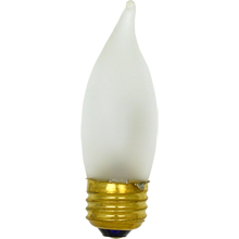 40W  Frosted Flame-tip Bulb