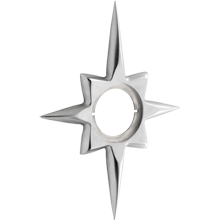 Wide Star Exterior Escutcheon