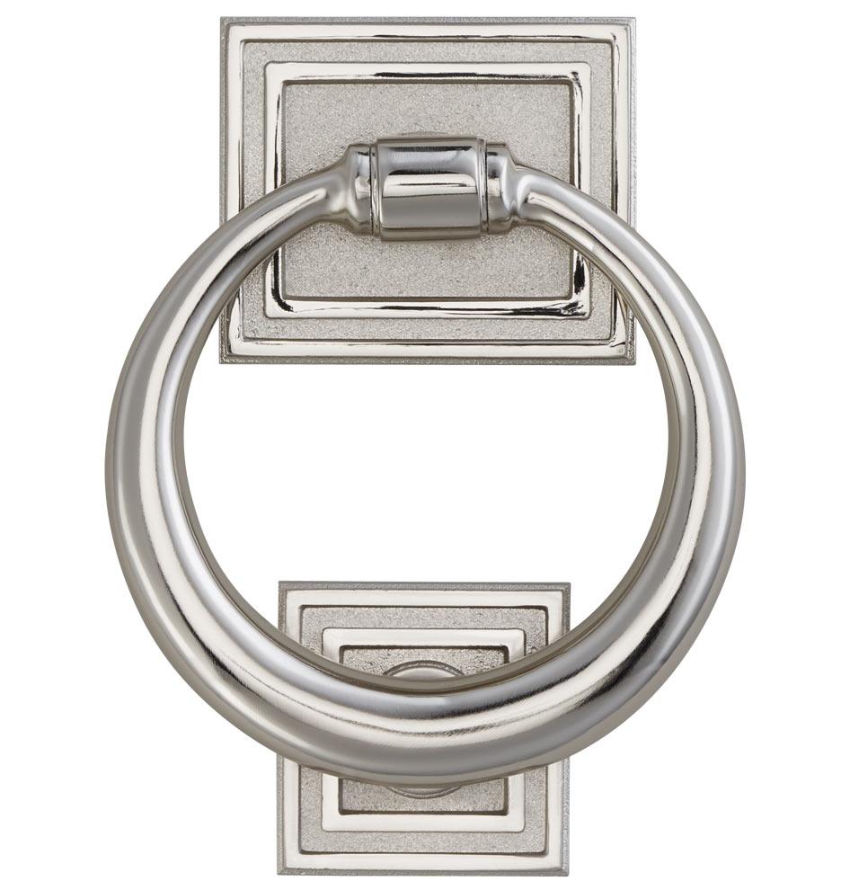 Classic ring door knocker rejuvenation - Door knocker nickel ...