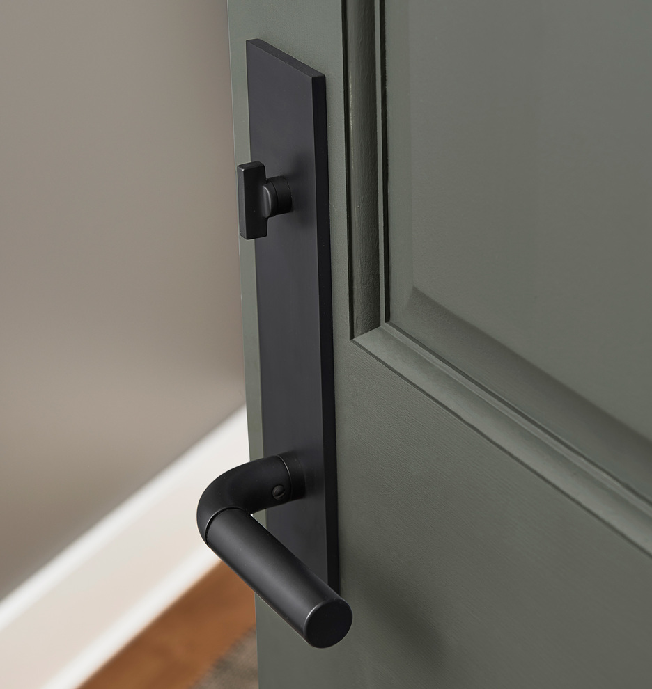 Tumalo Brass Lever Exterior Door Set Rejuvenation