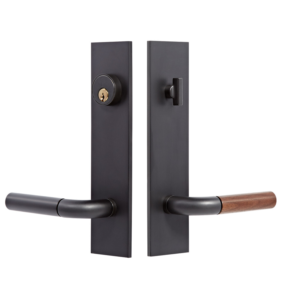 Tumalo walnut lever exterior door set rejuvenation for Entry hardware