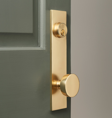 Tumalo Brass Knob Exterior Door Set Rejuvenation