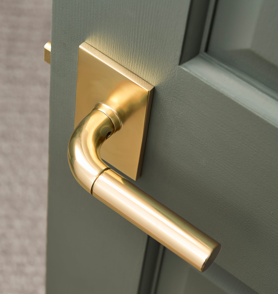 Tumalo Brass Lever Interior Door Set Rejuvenation