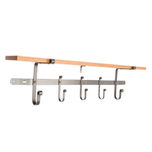 Enclume Hook Rack with Shelf