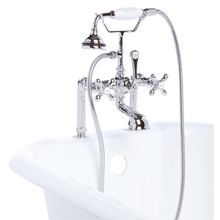Deck-Mount Tub Filler with Handshower