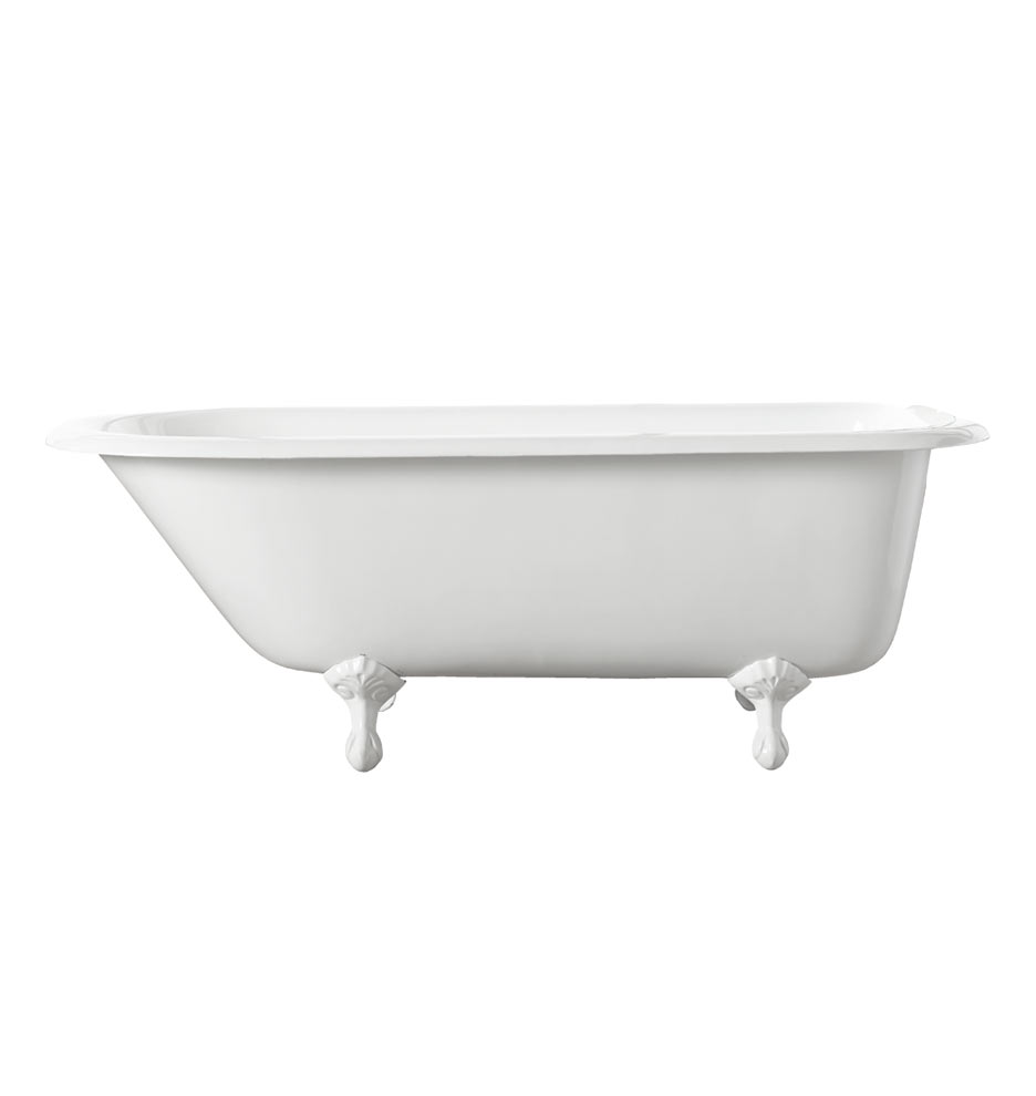 Clawfoot tub dimensions 59 inch acrylic classic for Dimensions of a clawfoot tub