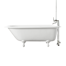 5' Clawfoot Tub with White Exterior