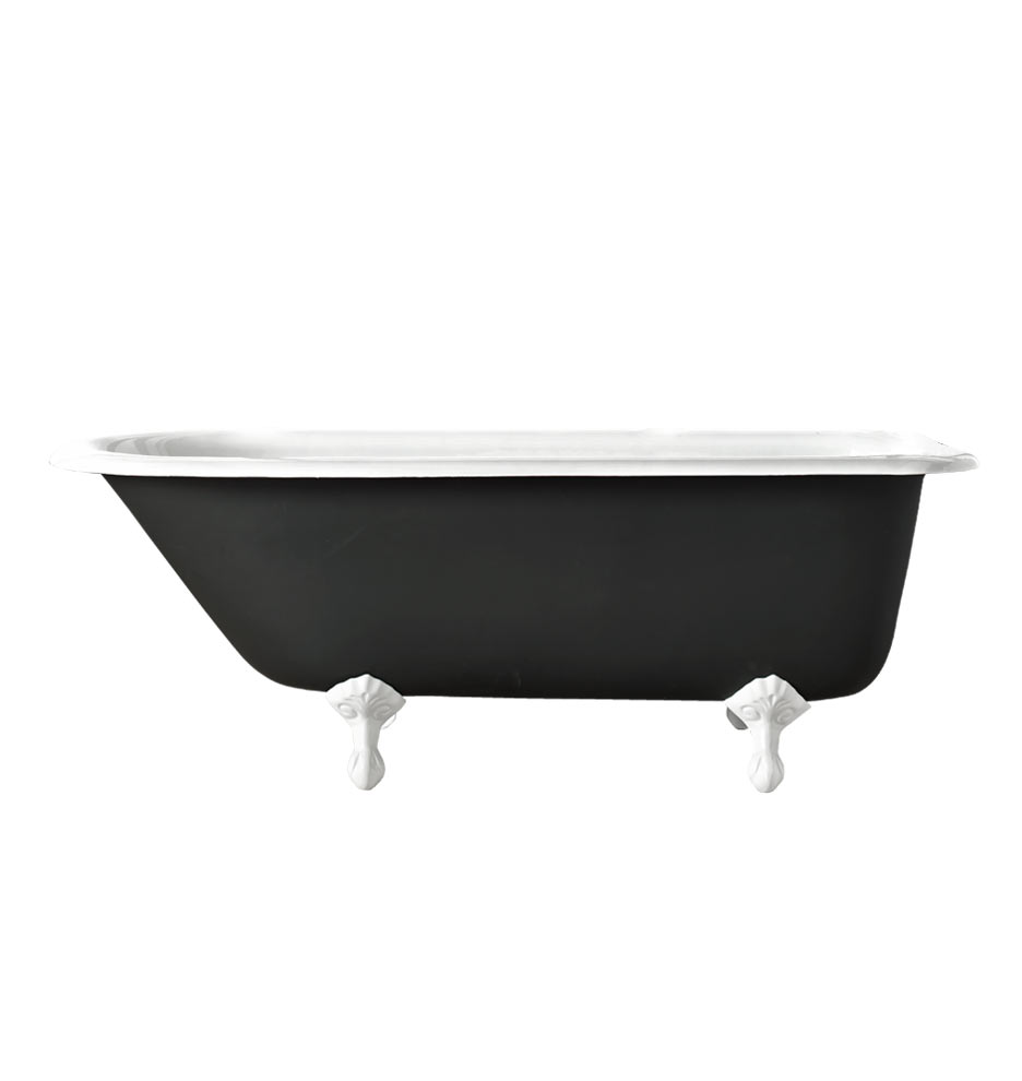 5 39 Clawfoot Tub With Black Exterior Rejuvenation