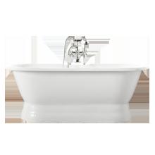 5-1/2' Double-End Pedestal Tub