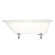 5-1/2' Clawfoot Tub with White Exterior