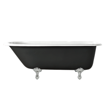 5-1/2' Clawfoot Tub with Black Exterior