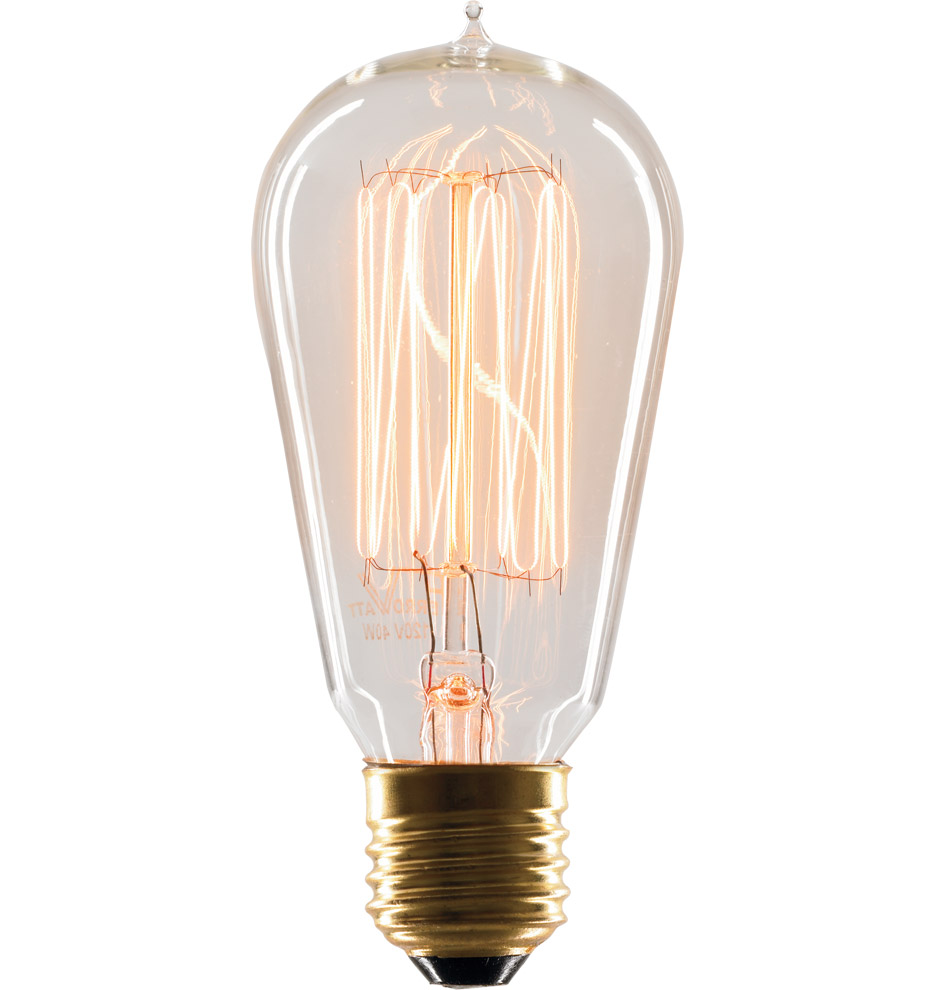 40w 1912 squirrel cage tungsten filament bulb rejuvenation Tungsten light bulbs