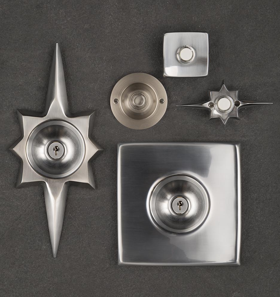 Mid Century Star Doorbell Button Rejuvenation