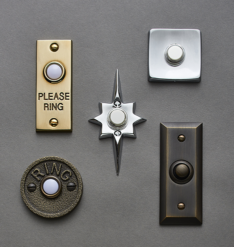 Mid Century Star Doorbell Button Rejuvenation