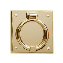 Ring On Beveled Square Door Knocker