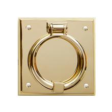 Ring On Beveled Square Door Knocker