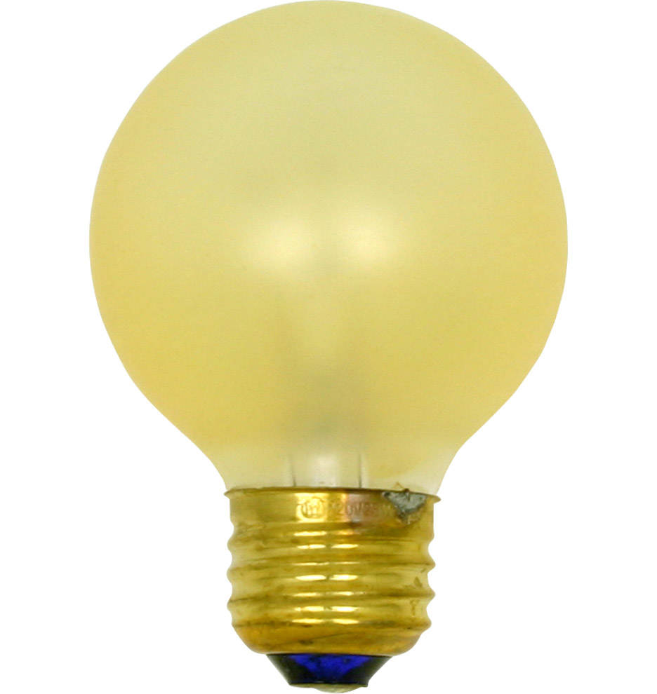 25w Gold Painted Globe Bulb Rejuvenation