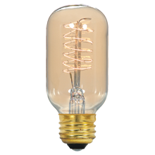 40W Standard-Base Vintage Spiral Filament Bulb