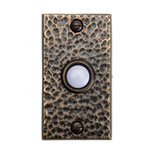 Hammered Brass Doorbell Button