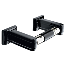 Chandler Toilet Paper Holder- Black Porcelain