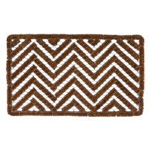 Chevron Wire & Brush Doormat