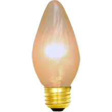 25W Gold Painted Flame Bulb