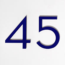 Modern House Numbers 4""