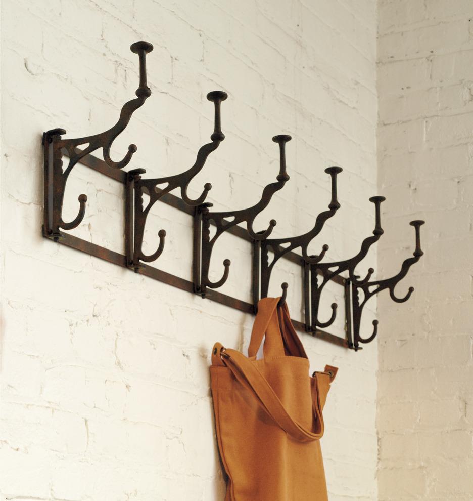 folding hook rack 6 hooks rejuvenation. Black Bedroom Furniture Sets. Home Design Ideas