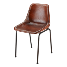 Leather Schoolhouse Chair