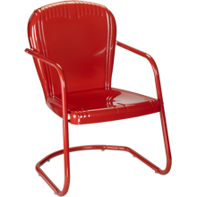 Red Metal Outdoor Chair