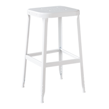 Aurora Industrial Stool - White