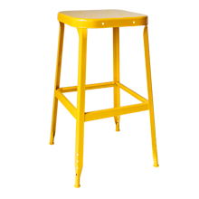 Aurora Industrial Stool - Freesia Yellow