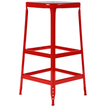 Aurora Industrial Stool - Tomato Red