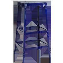 Aurora Industrial Stool - Cobalt Blue