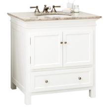 Sellwood Single Sink Console - White