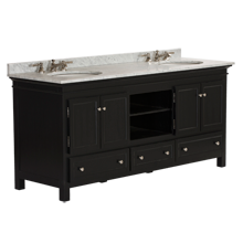 Sellwood Double Sink Console - Black